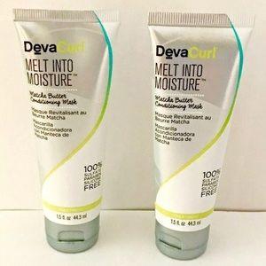 2 New tubes DevaCurl melt into moisture Hair Mask